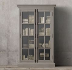 RH's French Casement Double-Door Cabinet:Panel doors and fine crown molding give our solid wood collection the gravitas of classic French furniture. Informations About French Casement Double-Door Cabi Steel Furniture, French Furniture, Cheap Furniture, Unique Furniture, Furniture Ideas, Furniture Logo, Furniture Removal, Country Furniture, Furniture Storage