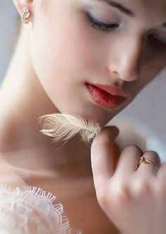 Should you find a feather today, take it in your hand, to remind you of His love and the angels and their command. Beautiful Dream, Beautiful Women, Boudoir, Best Of Tumblr, Glamour, Cs Lewis, True Beauty, Beauty Women, Girly