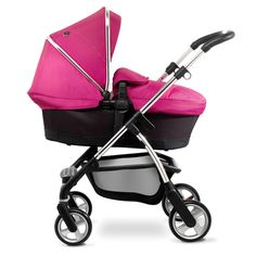 The Silver Cross Wayfarer pram system comes with a lie flat carrycot that's perfect for newborn babies.