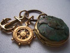 World Traveler Locket Charm Necklace