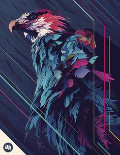 Wallpaper Iphone Art Graphics Illustrations Ideas For 2019 Graphic Illustration, Graphic Art, Illustrations, Digital Illustration, Art Pop, Sketch Manga, Eagle Art, Grafik Design, Amazing Art