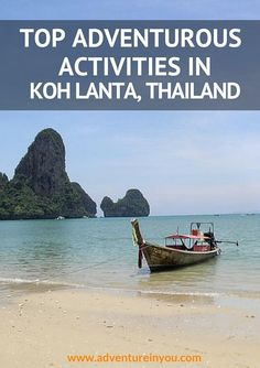Top adventurous activities in koh lanta thailand