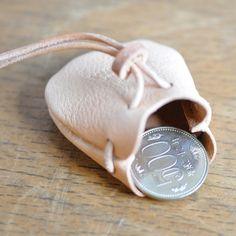 [栃木レザー使用]レザーネックレス・巾着袋 - 革工房OHANA ハンドメイド、オーダーメイドレザーワークス