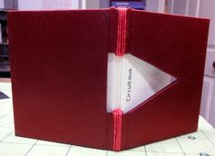 """This is the completed book I made for week 2 of my Book Arts Improv - """"Circuitous"""". Handmade artist book by Elissa Campbell."""