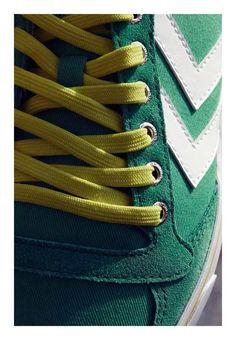 Hummel Sneaker Slimmer Stadil Low grün im Handball Shop günstig bestellen