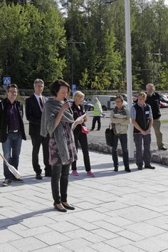 The First Lady of Finland Jenni Haukio reads her poem written in honor of the Finnish Nature. The Day of Finnish Nature August Photo: Metsähallitus / Anna Haukka Nature Center, August 2014, Jenni, High Class, Finland, Poem, Events, Shit Happens, Concert