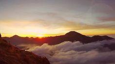 Sunset at Mount. Rinjani Lombok Indonesia Stock Video Footage - VideoBlocks