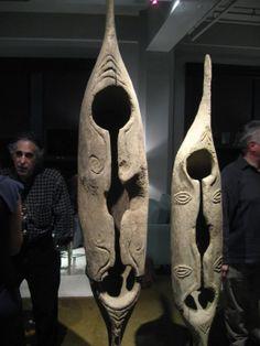 Slit Gong Drum,  Lumi people; Torricelli Mountains, Papua New Guinea. Oceanic Tribal Art Dealer Michael Hamson