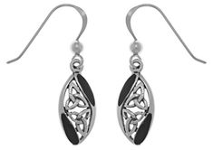 Jewelry Trends Sterling Silver Celtic Trinity Knot Dangle Earrings with Black Onyx >>> Read more  at the image link.