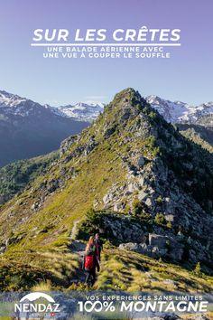 Envie de prendre de l'altitude? Et si vous découvriez notre sentier aérien, perché sur des crêtes à 2400m d'altitude? Reliant la Dent de Nendaz au Basso d'Alou avant de traverser des mélèzes centenaires, cet itinéraire, réservé aux bons marcheurs, vous en mettra plein la yeux avec ses points de vue à 360 degrés sur les Alpes. Altitude, Alps, Centenarian, Pathways, Teeth, Envy, Eyes