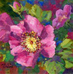 "Daily Paintworks - ""Rose Conversation"" - Original Fine Art for Sale - © Melissa Gannon"