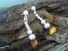 Tigers eye & sterling silver earrings by andreadawn1 on Etsy