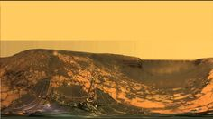 Opportunity rover inside Victoria crater in 360°