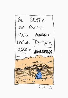 Tirinha ótima para interpretação. Por Felipe Portugaldo Dadaísmo em Quadrinhos.