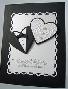 Wedding Hearts Embossed Nice And Easy Card Cute Cards Diy Tuxedo