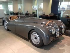 Throughout the early stages of the Jaguar XK-E, the lorry was supposedly planned to be marketed as a grand tourer. Changes were made and now, the Jaguar … Classic Sports Cars, Best Classic Cars, Sport Cars, Race Cars, Jaguar Xk120, Car Racer, Bmw, Trucks, Car Manufacturers