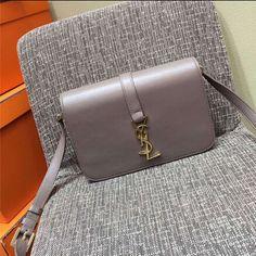 2015 New Saint Laurent Bag Cheap Sale-Saint Laurent Classic Medium Monogram  UNIVERSITE BAG in Grey Leather ef5e5d34b15bd
