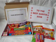 Retro Sweets Gift Box BEST EVER (All Relatives) FREE personalisation (45 sweets)  | eBay