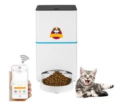 Abdtech Automatic Cat/Dog Feeder WiFi Pet Feeder with App for Portion Control & Feeding Time Setting Dog/Cat Food Dispenser Programmable Up to 4 Meals a Day Food Feeder, Pet Feeder, Automatic Cat Feeder, Conveyor System, Portion Control, Cat Food, Cool Cats, Dog Food Recipes, Your Pet