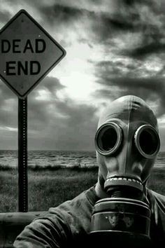 Image de gas mask, black and white, and dead
