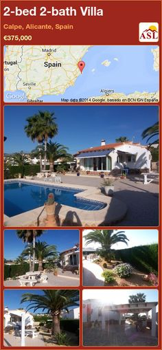 2-bed 2-bath Villa in Calpe, Alicante, Spain ►€375,000 #PropertyForSaleInSpain