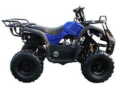 MOTOR HQ 125cc ATV Fully Automatic Four Wheelers 4 Stroke Engine 7 Tires Quads for Kids Blue ** You can find more details by visiting the image link. This is an Amazon Affiliate links.