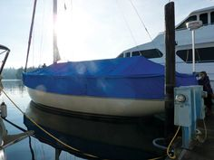 Mystery Bay Sails and Canvas, Nordland, Wash., fabricated a full enclosure for a climate that can be both benign and extremely rainy. This 50-ft. Kettenburgh Sloop has a full-mooring cover with removable side skirts, made with WeatherMAX®.