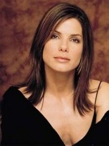 sandra bullock long bob hairstyle
