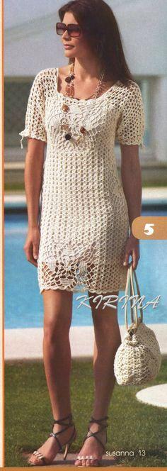 Crochet Dress and Handbag Pattern-beachy!