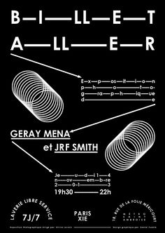BILLET ALLER Photography exposition in Paris. Geray mena and Jrf Smith 2013