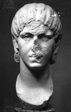 Portrait of a woman, perhaps Orbiana, wife of Severus Alexander Found in the pavement near the Teatro Museo Ostiens