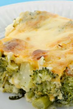 Broccoli Cheese Bake -  This is a great idea for those who aren't big fans of bread crumbs