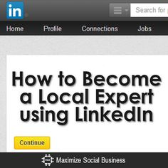Use LinkedIn to do research on your local market , see how competitors are using it, what kind of content is your industry sharing and what issues are they facing.