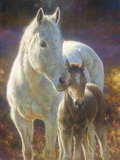 Morning Magic -horse painting by Bonnie Marris