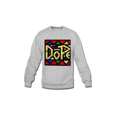 Dope Shapes Long Sleeve Shirts | Men's Crewneck Sweatshirt designed by Andrewhiggins | Spreadshirt | ID: 8531381 ($28) found on Polyvore