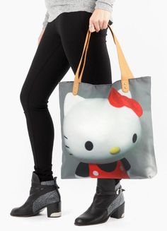 Unique tote for all your sweet items. Donna Mendes · Gifts · Hello Kitty  Canvas Tote Bag  ... cac617c528