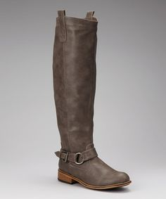 Take a look at this Taupe Parksville Buckle Boot by Bamboo on #zulily today!