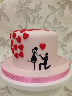 Engagement Cake from Amazing Cakes and Bakes! Amazingcakesandbakes.co.uk
