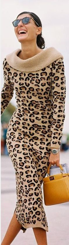 @roressclothes closet ideas #women fashion outfit #clothing style apparel leopard print dress
