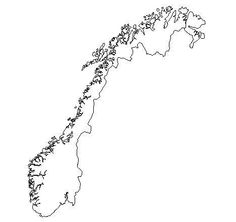 Free printable maps, different countries. Norway Map