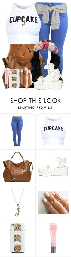 """""""Floral Beauty"""" by blasianmami16 ❤ liked on Polyvore featuring Michael Kors, Steve Madden and MAKE UP STORE"""