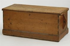 ANTIQUE AMERICAN SEA CAPTAIN'S CHEST In pine with - by Eldred's