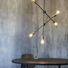 Lamps are important elements when you want to create a personal and cosy décor. The beautiful Molecular lamp from House Doctor is an almost House Doctor, Design Shop, Glow Table, Cosy Decor, Clamp Lamp, Loft, Black Lamps, Unique Lighting, Lighting Solutions