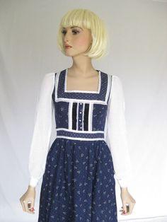 Vintage 70s Gunne Sax Hippie Prairie Dress by TimeBombVintage, $49.00