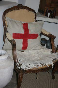 Homemade Red Cross Pillow