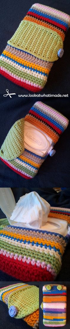 Crochet Travel Wipes Cover Tutorial crochet tutorials  Photo ❥Teresa Restegui http://www.pinterest.com/teretegui/❥