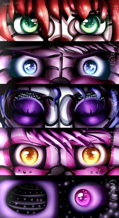 {SPEEDPAINT} Sister Location [EYES] by IN0KID.deviantart... on @DeviantArt