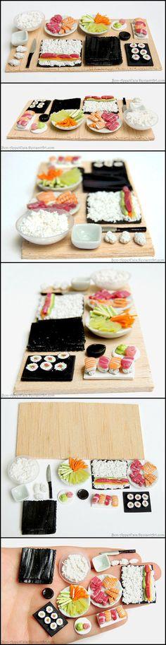 Sushi Prep Board by *Bon-AppetEats on deviantART