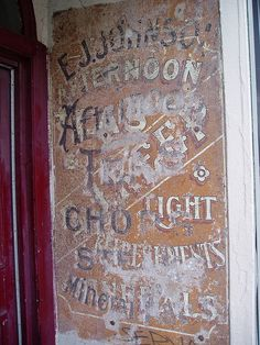 Ghost sign, London Road, Brighton, Sussex, England by victorious felines, via Flickr
