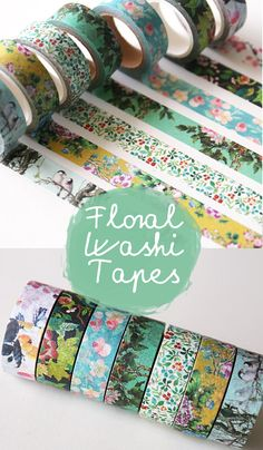 floral multi-purpose washi tape, it's perfect for your planner or bullet journal! | bullet journal washi tape | bullet journal stickers | bullet journal ideas | journal planner #Ad